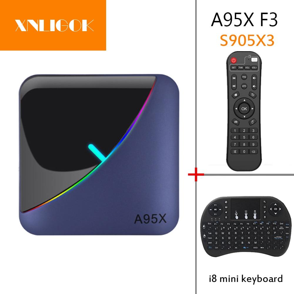 A95X F3 Smart TV Box Android 9.0 Amlogic S905X3 4GB 32GB 64GB Android Tv Box X96Air 1080P 4K 60fps Set Top Box