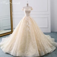 luxury wedding dresses sleeveless tube top lace applique charming gowns embroidery back lace up vestido de noiva court train