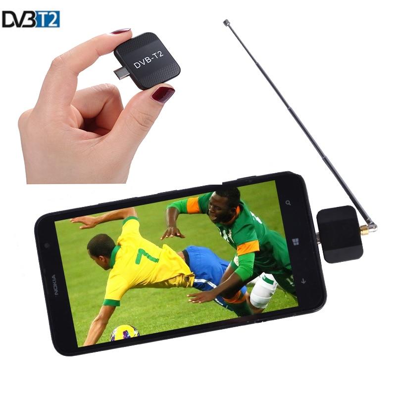 TV Stick Mini DVB-T2  Android Phone Digital Portable TV Tuner Hevc h.264 Support EPG DVB-T ATSC ISDB-T Receiver For Stick