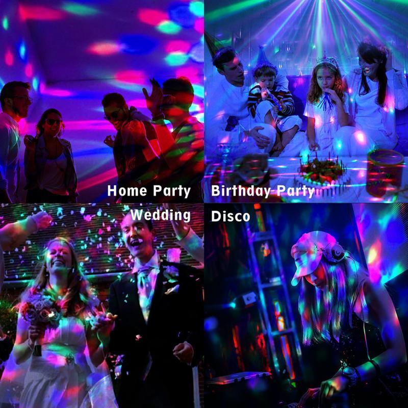 Лазер Дискотека Лампа Светодиод Дискотека Свет Движение Голова Танцы Пол Вечеринка Свет DJ