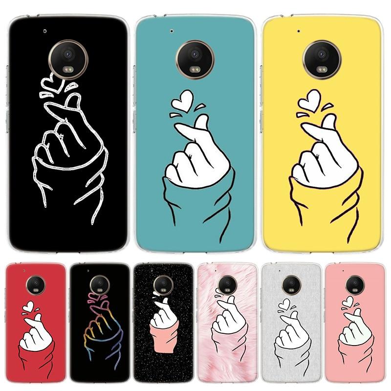 Black White Love kpop Phone Case For Motorola Moto G7 G8 G6 G5S G5 E6 E5 E4 Plus Power G4 One Action X4 EU Gift Coque Cover