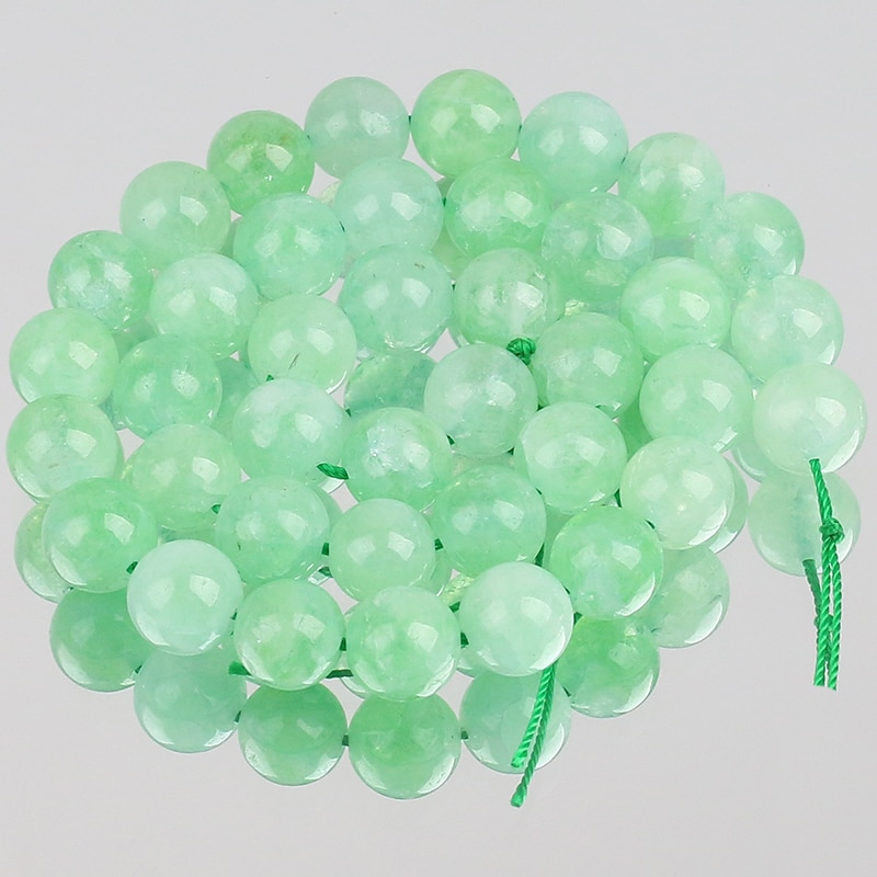 Бусины-из-натурального-камня-зеленые-клубничные-кристаллы-бусины-с-отверстием-для-изготовления-ювелирных-изделий-«сделай-сам»-аксессуар