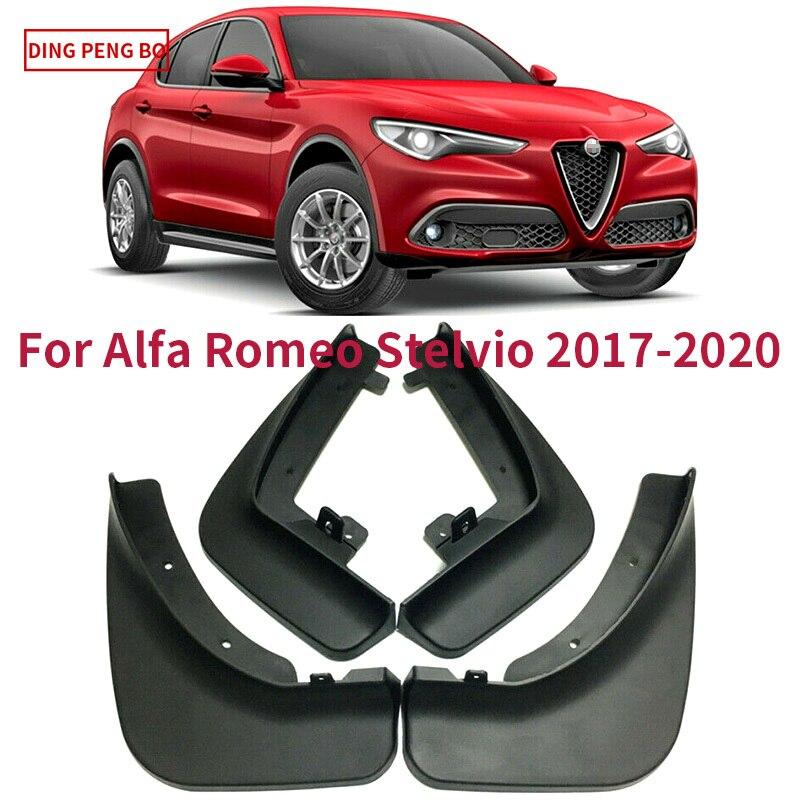 4pcs Car Mud Flaps Mudguard Splash Guards Fender Mudflaps Tire Fender Car Accessories For Alfa Romeo Stelvio 2017 2018 2019 2020