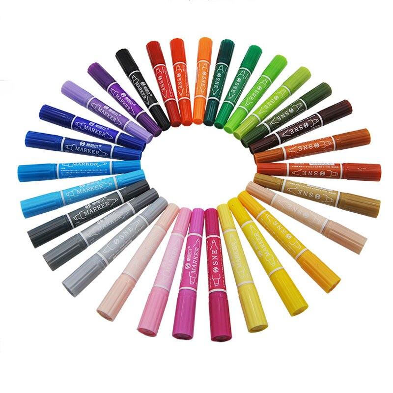 Rotulador para bocetos de 30 colores, 1 pieza, rotulador para escuela de arte oleoso, rotuladores de suministros de Arte de doble cabeza, conjunto de marcadores de dibujo, manga