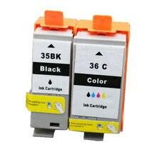 PGI 35 CLI 36 cartouches dencre 35BK 36C Compatible pour Canon Pixma IP100B IP100 avec batterie Mini 260 320 cartouche avec puce