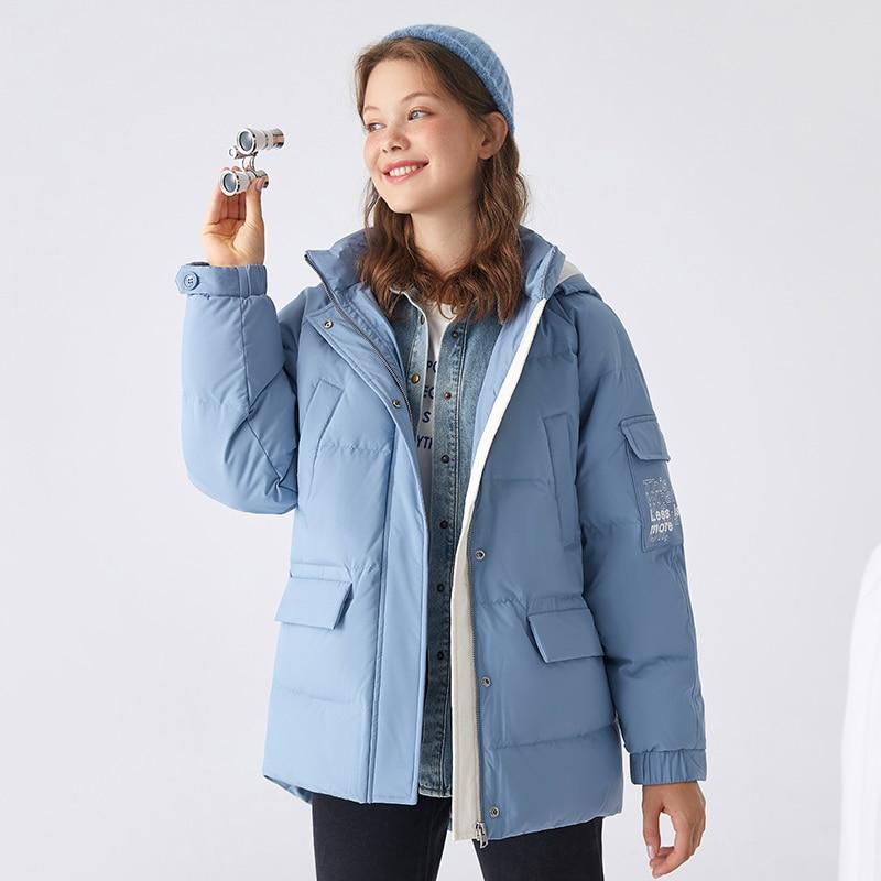 Down jacket women short new winter fashion loose girl bread coat thicken casual fashion down coat female
