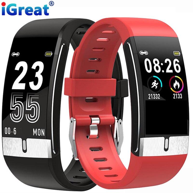 IGreat E66 Smart Uhr Körper Temperatur Smart Armband Fitness Tracker Heart Rate Monitor Al Medizinische Diagnose EKG PPG VS T1