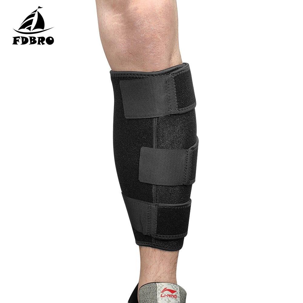 Fdbro novo alívio da dor da panturrilha tensão entorse canela lascas perna de tênis perna de bezerro lesão cinta shin splint suporte inferior perna cinta 1 pçs