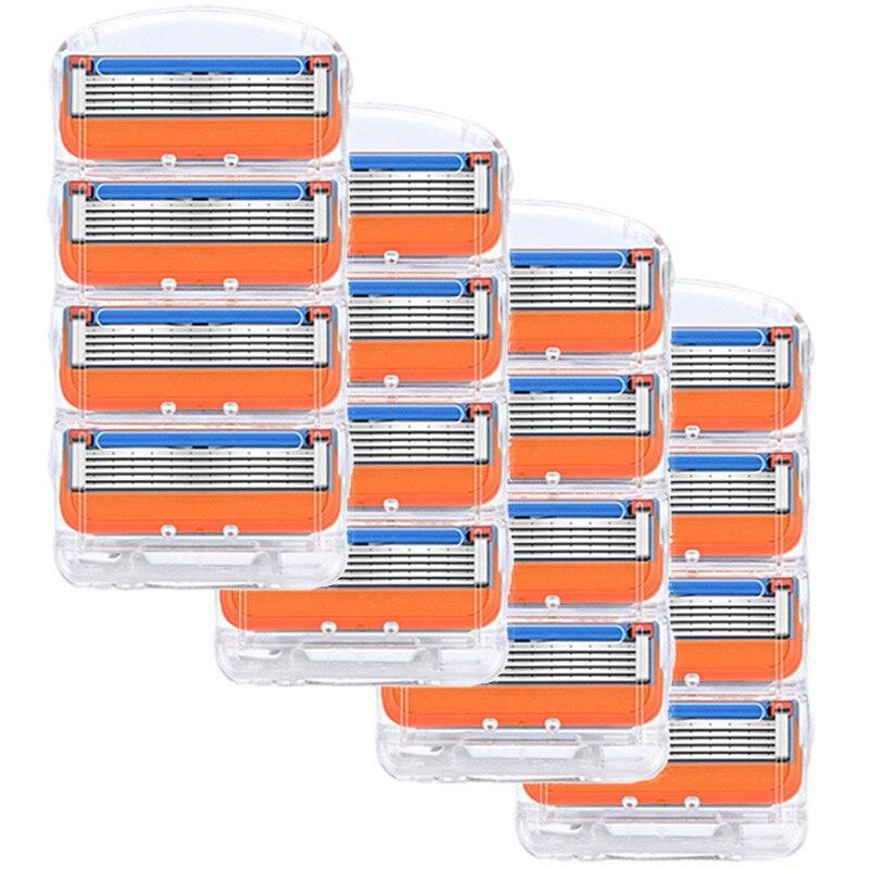 16 ⑤ кор. лезвие бритвы для мужчин уход за лицом 5 слоев кассета для бритвы из нержавеющей стали Безопасные лезвия костюм для Gillettee Fusione
