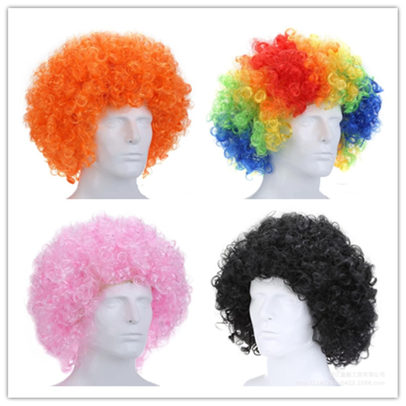 Fans Explosive Party Colored Clown Wig Afro Holiday Supplies Dance Bar Dress Performance Funny
