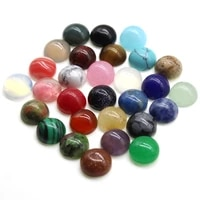 10pcs mixed round cab cabochon stone natural stone agate beads for jewelry making diy handcrafted jewelry making ring earring