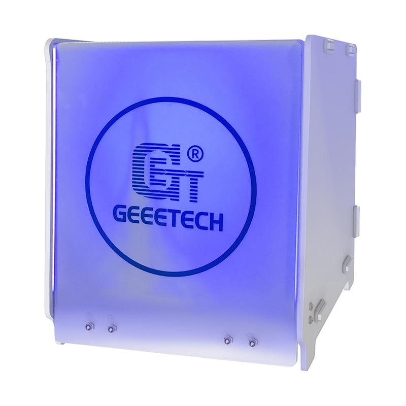 Geeetech UV علاج صندوق 40nm الأشعة فوق البنفسجية الطول الموجي علاج بالتساوي مع 360 درجة مساحة كبيرة 217 × 204 × 228 مللي متر لمستخدمي طابعة SLA ثلاثية الأبعا...