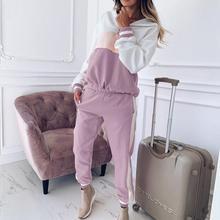 Women 2 Pcs Sexy Set Tracksuit Sweatshirt Pants Sets Lady Wild Sport Long Sleeve Wear Casual Suit Sets Cool sudadera mujer A4