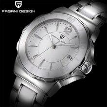 PAGANI DESIGN Women Quartz Watch Fashion High-End Ceramic Bezel Watch Automatic Date Waterproof Lumi