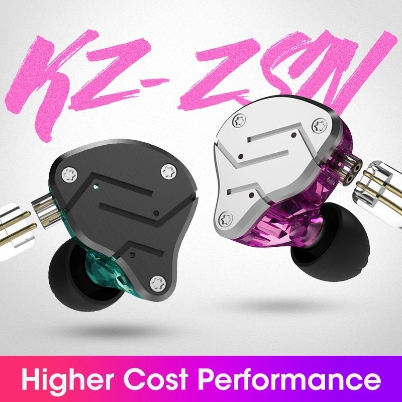 Kz zsn 1ba + 1dd pesado baixo comutativo cabo de ouvido alta fidelidade controlador quad core música zst x bluedio