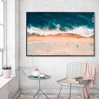 Peinture a lhuile abstraite de paysage en aerosol  ville de bord de mer  toile dart  salon  couloir  decoration murale de la maison