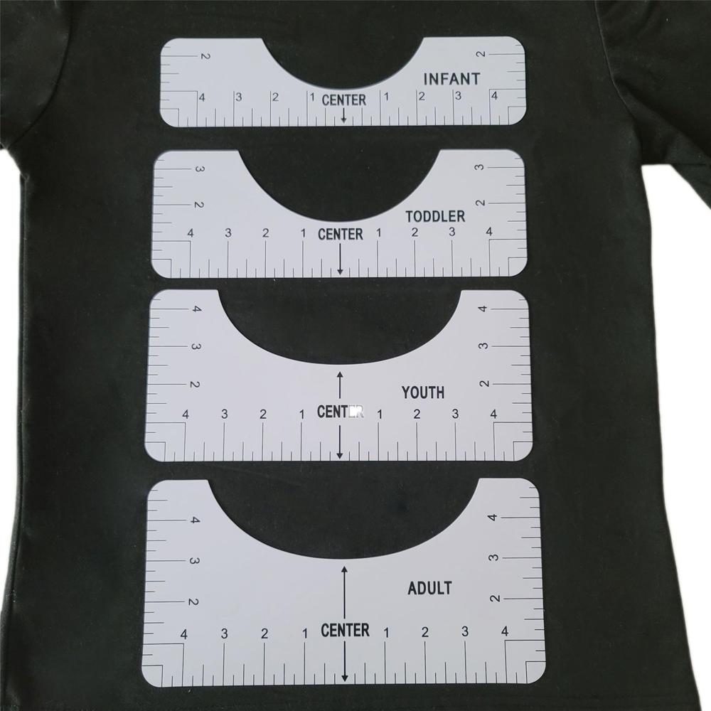 Линейка для выравнивания футболок, линейка для руководства дизайна футболок, линейки для модного центра дизайна с таблицей размеров, для вз...