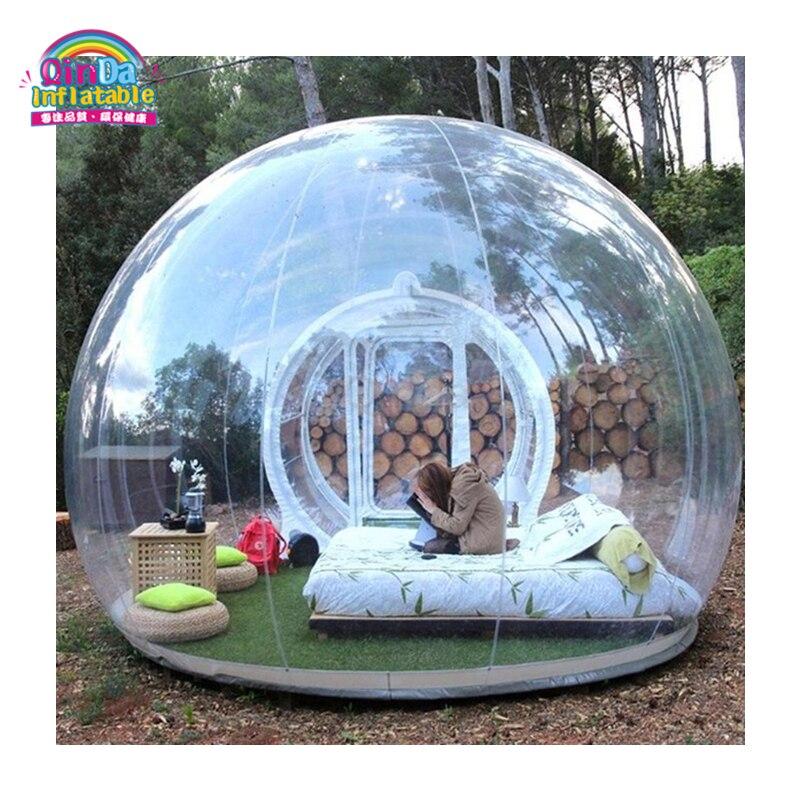 La mejor calidad, cúpula de 4 m, tienda de campaña inflable transparente para exteriores, tienda de campaña con burbujas a la venta