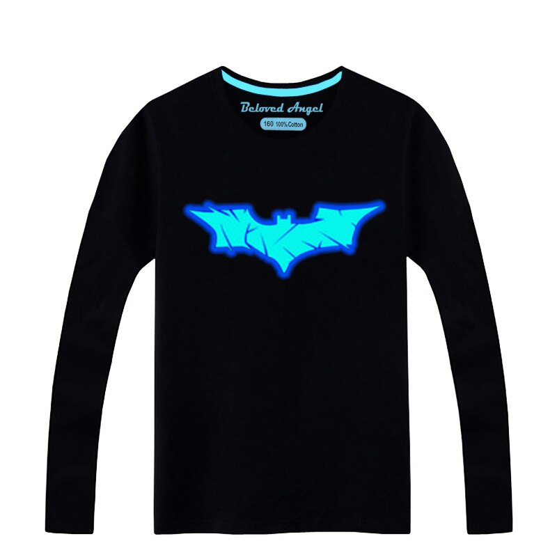 Brand New Long Sleeve Luminous Children's T-Shirt For Girls Tops Fashion Boys T Shirts Cotton Kids T Shirt Baby Clothes 3-15T