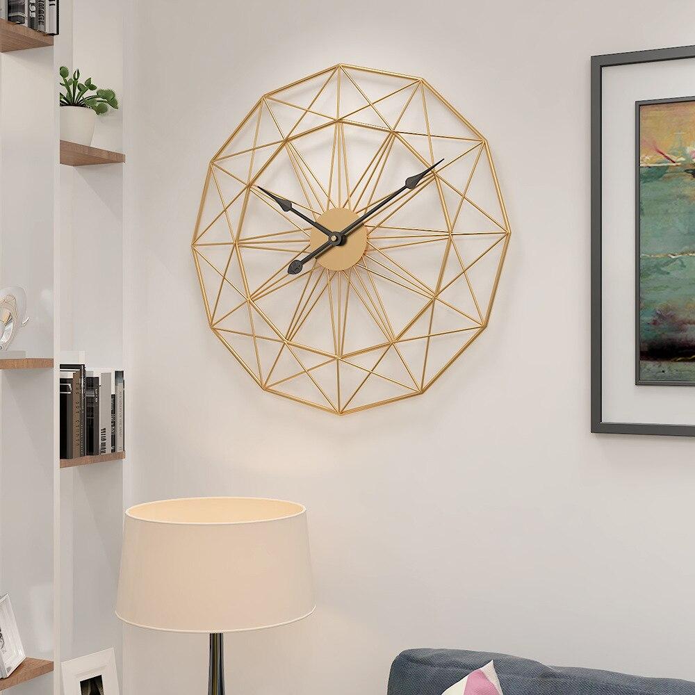 Reloj de pared nórdico europeo, diseño moderno, decoración para sala de estar,...