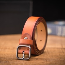 LannyQveen New Fashion Designer Belt Cowhide Ladies Genuine Leather Jeans Belts For Women
