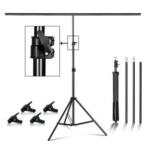 Т-образный металлический фон для фотосъемки с подставкой и несколькими размерами для студийной фотосъемки с зеленым экраном
