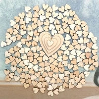 100pcs 4 sizes mixed rustic wooden love heart beads cabochaon for wedding table scatter home decoration accessories wholesale