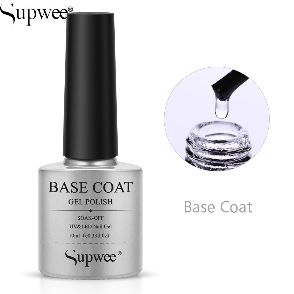 SUPWEE 10ml Base top Coat Set For Manicure Gel Nail Polish Painting Nail art Need to Cure UV LED Lamp Primer Gel Varnihses Set