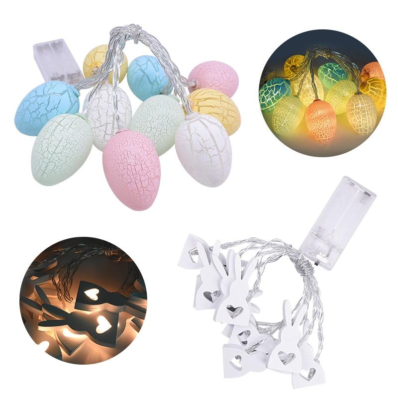 Decoração de páscoa luz garland ovos para casa pendurado ornamento coelho da páscoa led string luz diy feliz páscoa decoração suprimentos
