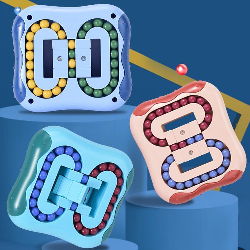 Children Educational Fidget Toys Flat Rolling Magic Beads Game Maze Mechanism Box Prevent Alzheimer's Brain Burning Anti-Stress enlarge