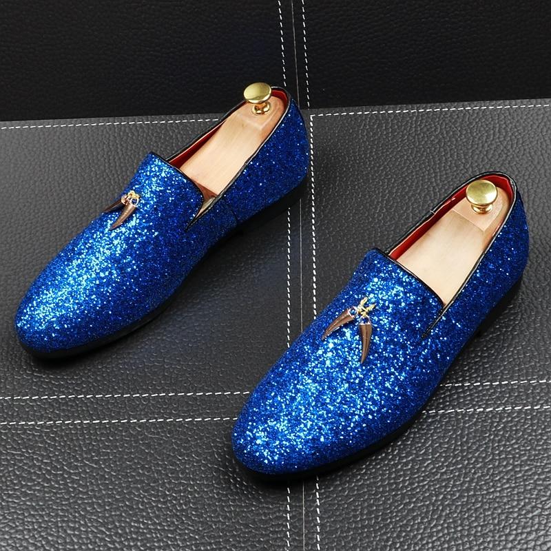 حجم كبير الرجال موضة فساتين حفلات ملهى ليلي لينة الجلود شرابات أحذية الانزلاق على حذاء كسول تنفس الصيف المتسكعون الأحذية