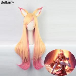 League of Legends Stars Guardian  Ahri Cosplay Wigs 75CM Long
