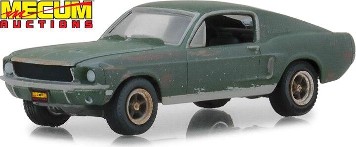 Luz verde 164 1968 Ford Mustang 2020 GT Fastback boutique coches de juguete de aleación para niños modelo original caja