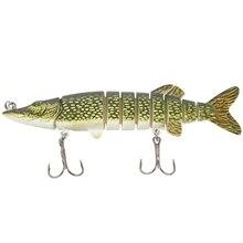 5 polegada/12, 5cm 20g vivo realista isca de pesca multi articulado 8-segement pike muskie swimbait crankbait peixe duro isco wi