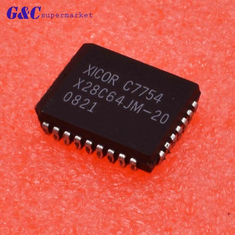 1/5 Uds X28C64JM-20 encapsulación PLCC de 5 voltios Byte Alterable E2PROM 32 pines diy electrónica