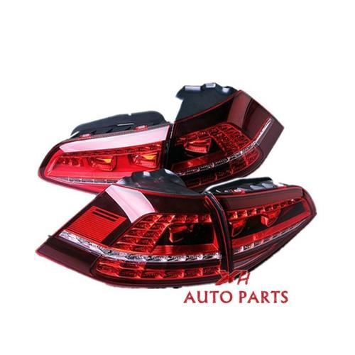Nuevo LED 4x luz trasera roja oscura montaje de luz trasera para VW GOLF GTI MK7 14-16 5G0945207A 5G0945208A 5G0945307A 5G0945308A