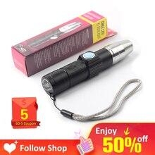 Перезаряжаемый фонарик, УФ-Фонарик нм, ультрафиолетовый фонарик, фонарь светодиодный USB, цветная лампа, Ультрафиолетовый детектор