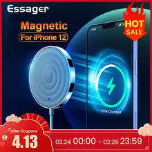 Essager 15W QI chargeur sans fil magnétique pour iPhone 12 Pro Max Mini Induction rapide magie Magsafing sans fil chargeur adaptateur