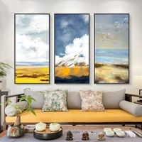 natural abstract birds landscape oil painting on canvas cuadros posters and prints scandinavian wall art picture for living room