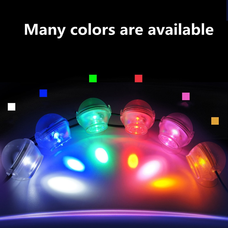 2021 Fish house Suction cup led lamp Waterproof aquarium light for coral reef fish tank Submersible Aquarium Spot Lamp light