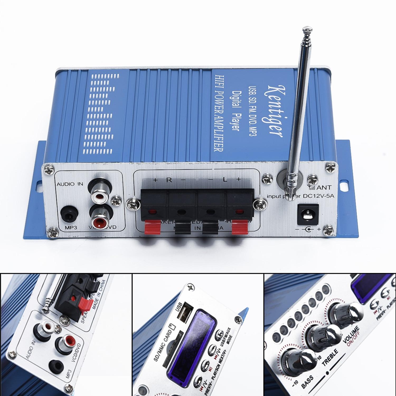 100w potência mini estéreo de alta fidelidade 2 canais amplificador carro casa mp3 fm áudio player de filtragem e circuito de potência anti-capacidade