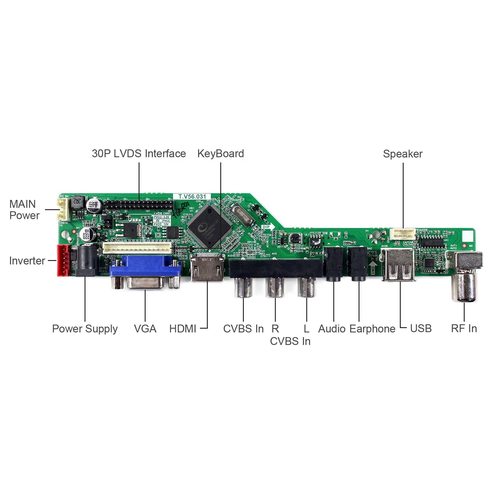 13.3inch LQ133M1LW02 1920X1080 LCD Screen with HD MI VGA AV USB RF LCD Controller Board T.V56.03