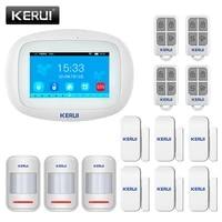 KERUI systeme dalarme K52 WIFI GSM 4 3 pouces grand ecran tactile TFT pour la securite a domicile detecteur de mouvement capteur de porte APP telecommande