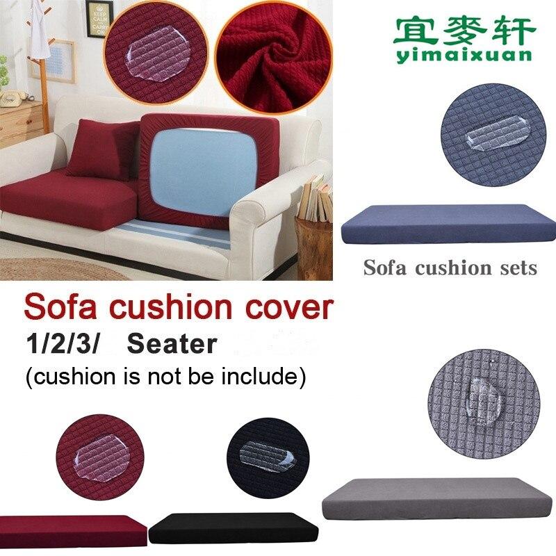 Housse de coussin de canapé extensible 1/2/3/3 places   Couverture à carreaux, housse de protection de canapé housse de remplacement