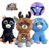 Feisty Домашние животные, смешное лицо, изменяющее Единорог, мягкие игрушки для детей, чучело черепахи, плюшевая коала, злое животное, Очароват...