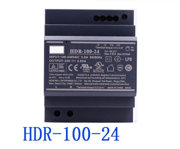 Fuente de alimentación conmutada de salida única de HDR-100-24... 100N 24V