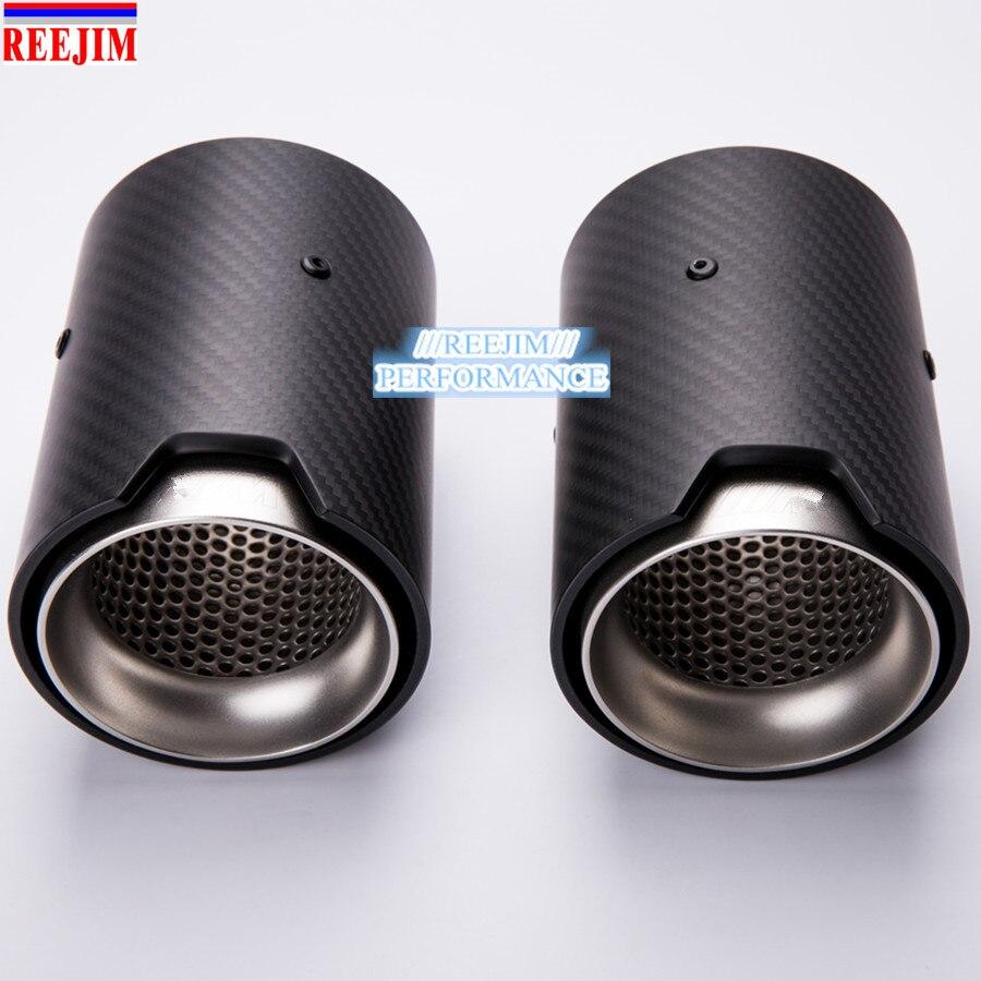 1 pieza de punta de seguridad de fibra de carbono Auspuffspitze para BMW M2 M3 M4 M135i M235i M140i M240i silenciadores mate/piezas de estilo de carbono brillante