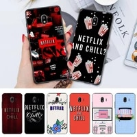 netflix and chill aesthetic phone case for honor 8a 10 10i 9 lite 5a 7a 8x 9x pro 20 7c 8c play cover coque
