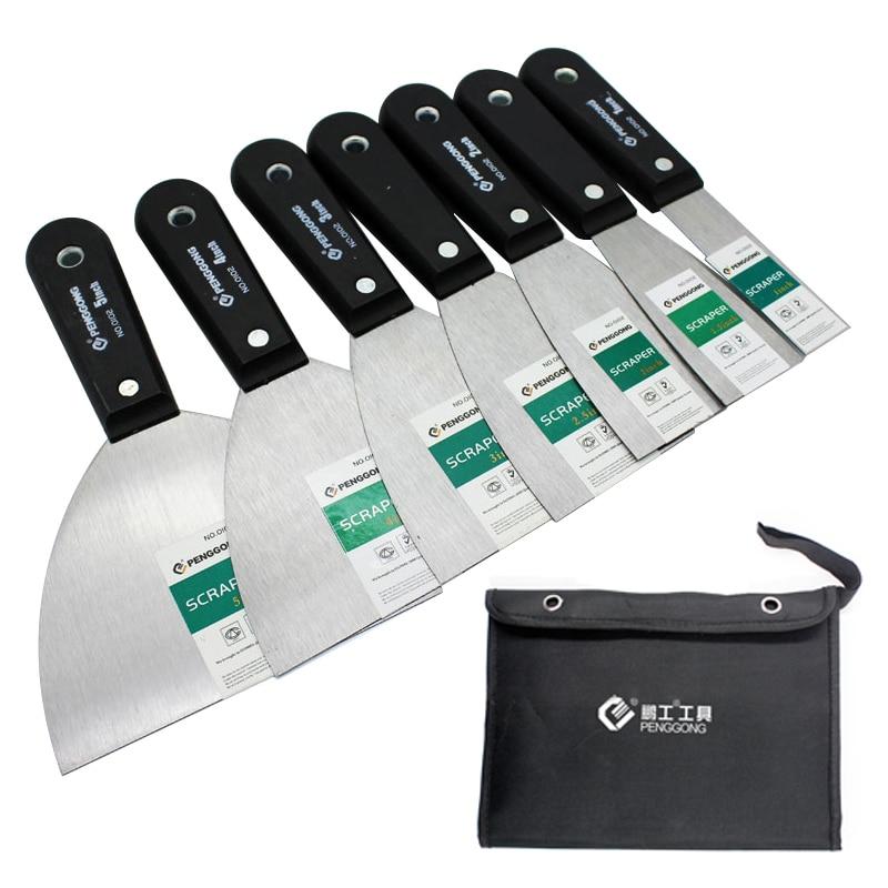 7pcs Putty Knife Set With Bag Scraper Blade 1