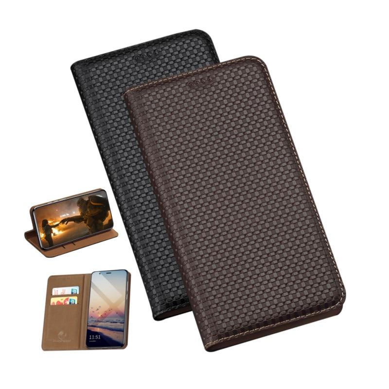Funda magnética de cuero natural de lujo funda para ZTE AXON 9 Pro/ZTE AXON 11 5G/ZTE AXON 11 SE funda tarjetero de teléfono soporte de ranura